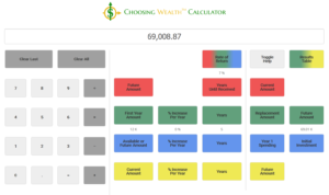 Example: Choosing Wealth™ Calculator